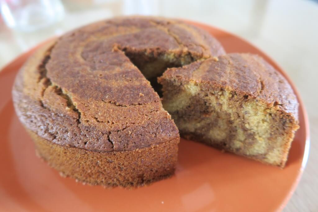 Gâteau marbré végétal sans gluten