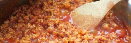 Sauce bolognaise végétale