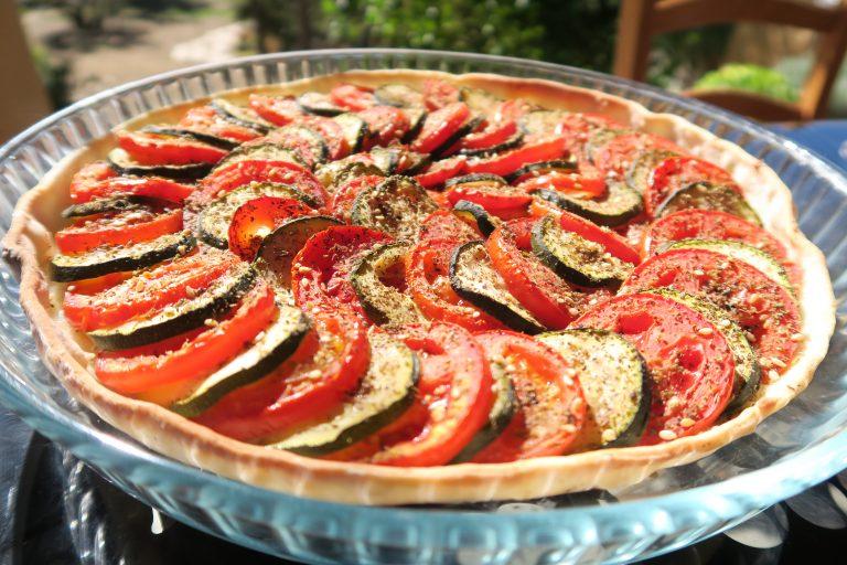 Tarte tomate courgette