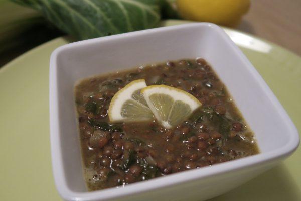 Soupe de lentille au citron (avec des blettes cachées dedans !)